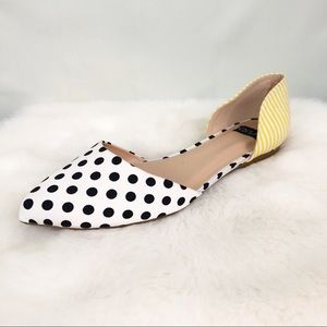 Nyla Polka Dot D'Orsay Flats Size 10 NWOB